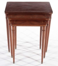 SET 3 COMTE MAHOGANY NESTING TABLES 1940