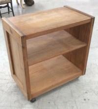 Wooden Rolling Shelf Cart
