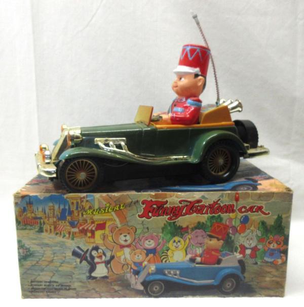 Battery Op. Musical Funny Cartoon Car. Orig. Box