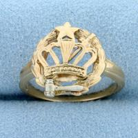 Order of The Eastern Star Ring in 14K Yellow and White Gold