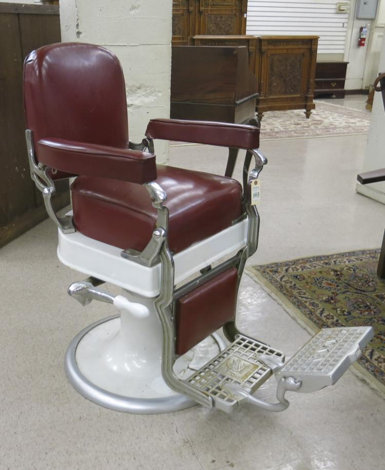 VINTAGE BARBER CHAIR Koken Barbers Supply Co S
