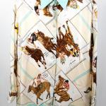 Sold Price Hermes Silk Blouse Horses Print April 6 0120 10 00 Am Edt