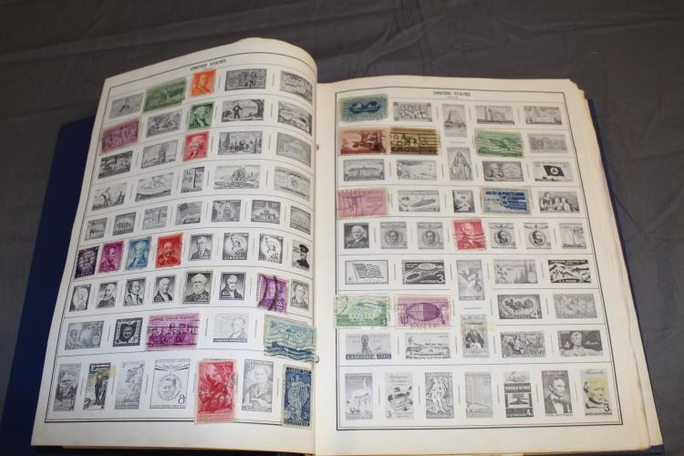 Statesman Stamp Album Many 100s Of Unused And Used Stamps