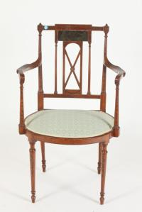 """EDWARDIAN PAINTED ARM CHAIR. Early 20th Century. - 35 1/4"""" h"""