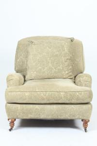 TRADITIONAL UPHOLSTERED ARM CHAIR, Contemporary. No label.