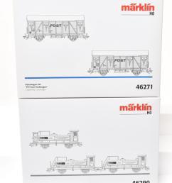 lot 37 marklin 46271 ptt postal railcar and 46290 spirits  [ 1000 x 1265 Pixel ]
