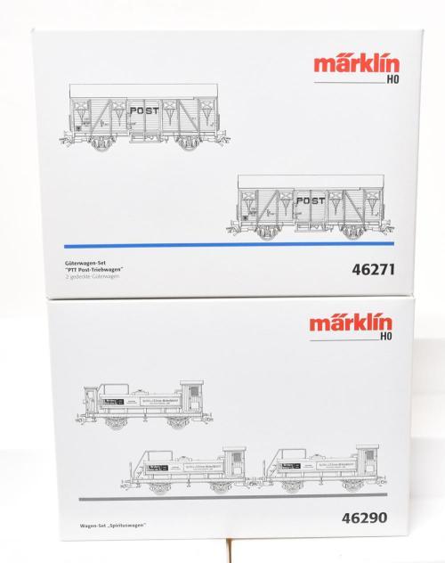 small resolution of lot 37 marklin 46271 ptt postal railcar and 46290 spirits