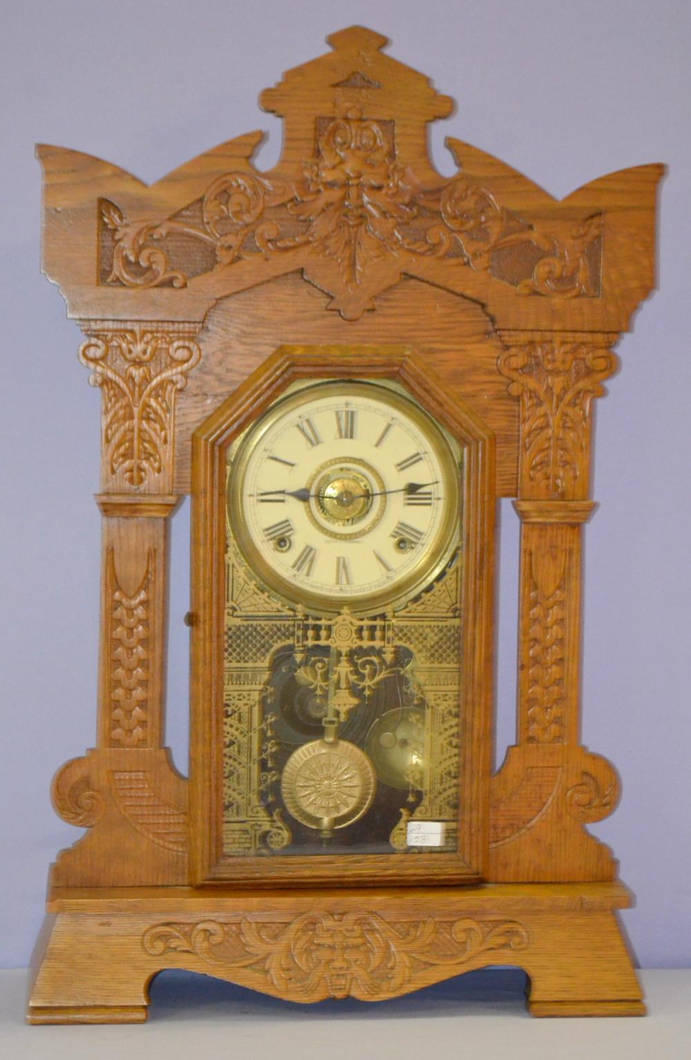wooden kitchen clock cabinet ideas american clocks for sale at online auction buy rare antique oak seth thomas