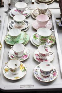 Estate lot of cup, saucer and plate sets