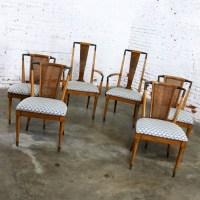 Mid Century Modern Dining Chairs Widdicomb Style Set of Six