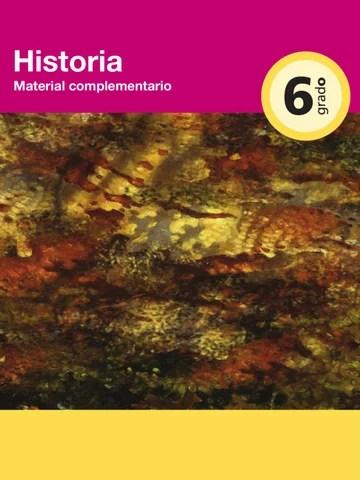 Historia Material Complementario 6to. Grado
