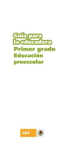 Guia de la Educadora 1er. Grado