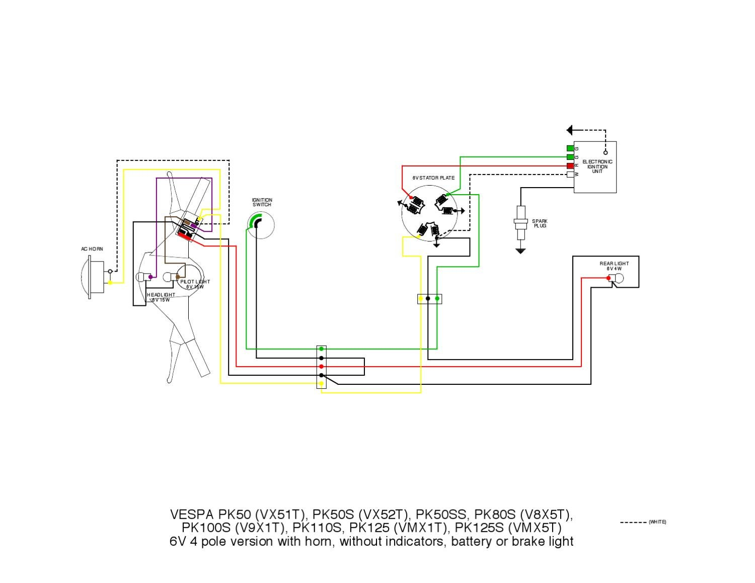 7 pole wiring diagram for amp and speakers 1 light switch 120 vac