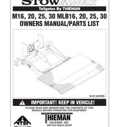 thieman m series liftgate by the liftgate parts co issuu ford e 150 wiring diagram 4 way connector wiring diagram [ 1159 x 1500 Pixel ]