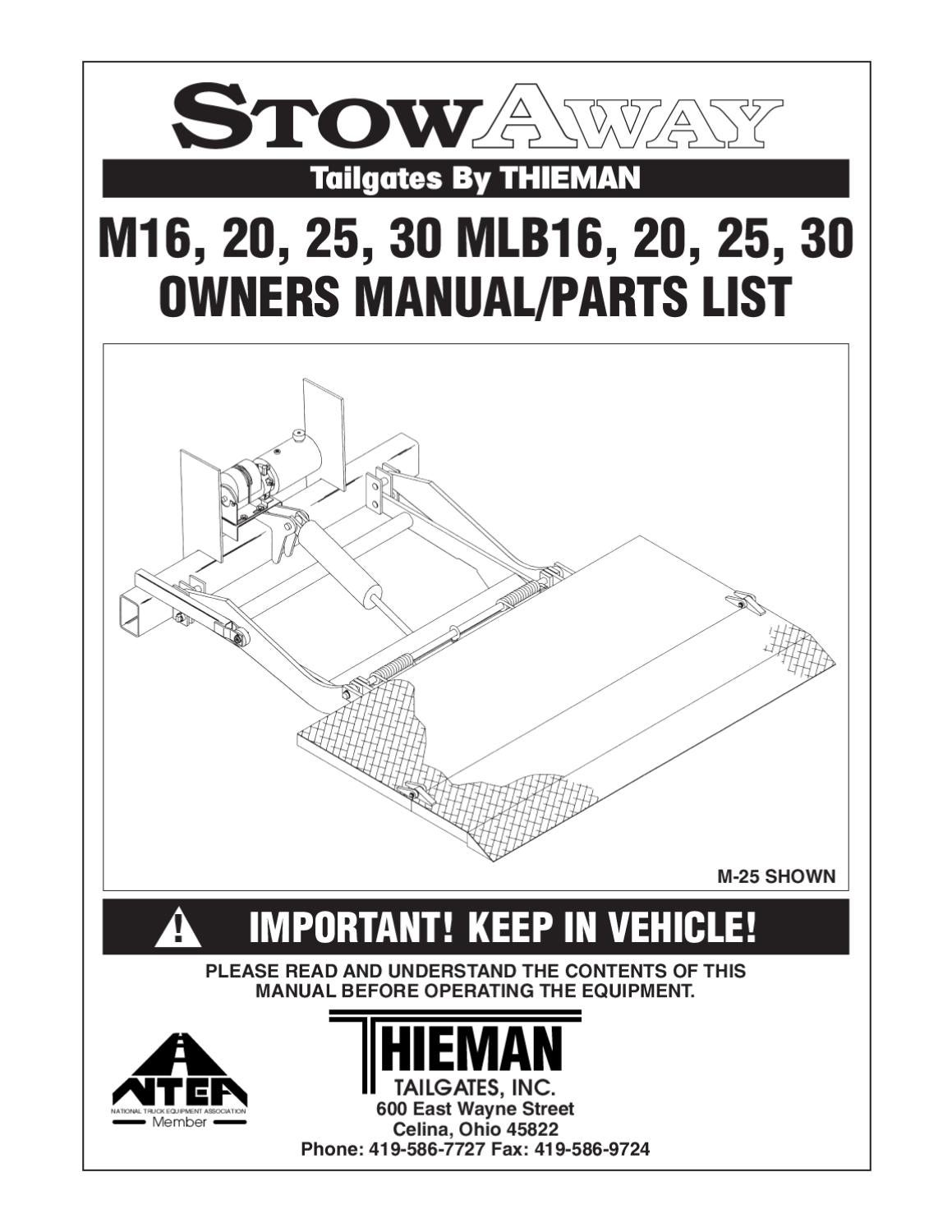 hight resolution of thieman m series liftgate by the liftgate parts co issuu ford e 150 wiring diagram 4 way connector wiring diagram