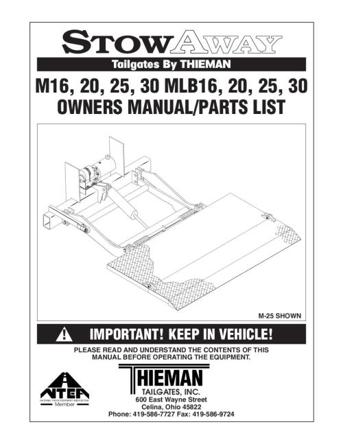 small resolution of thieman m series liftgate by the liftgate parts co issuu ford e 150 wiring diagram 4 way connector wiring diagram