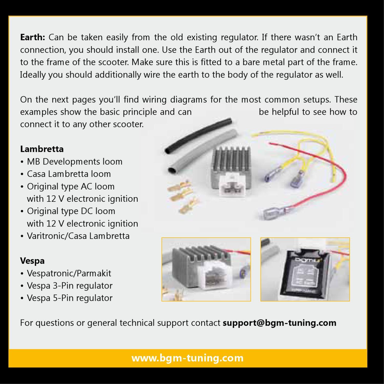 lambretta wiring diagram battery isolator issuu bgm voltage regulator vespa and by scooter