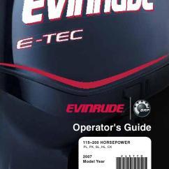 Evinrude Etec 115 Wiring Diagram 2000 Mustang 2007 E Tec 200hp Operator Guide 215770e