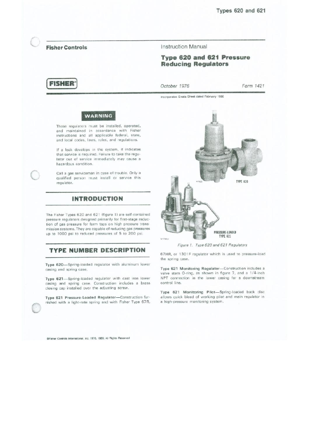 620 Instruction Manual by RMC Process Controls