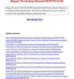 array clark forklift gcs repair manual rh lectintelllceit  [ 1060 x 1500 Pixel ]