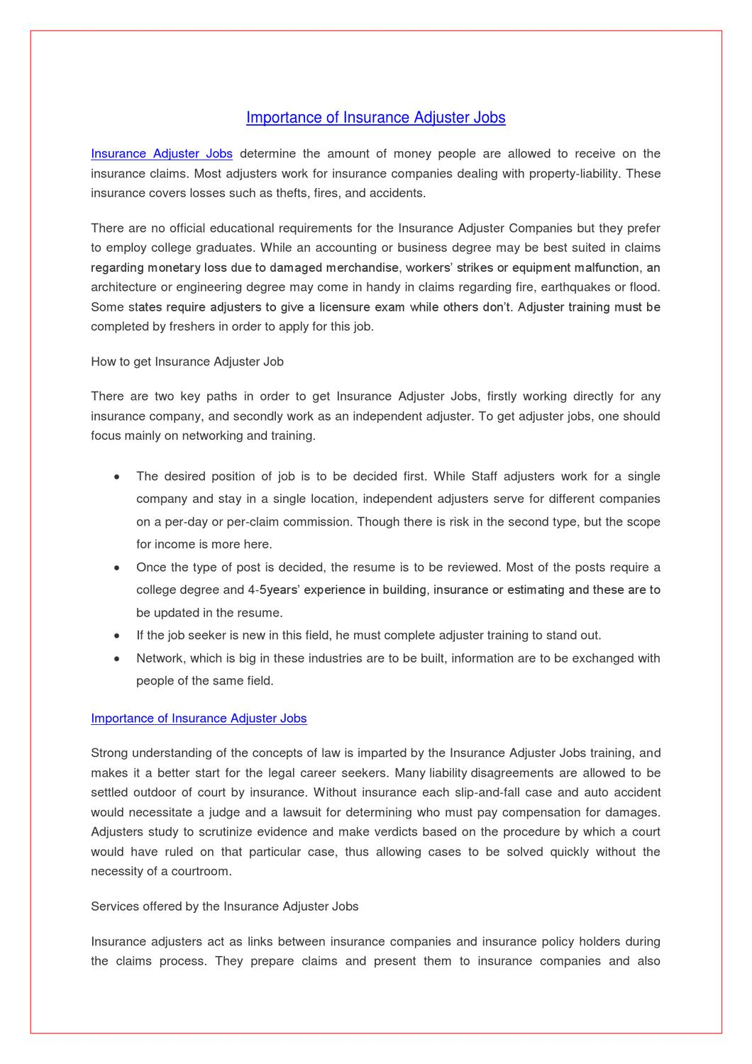 cover letter for a claims adjuster - Yatay.horizonconsulting.co