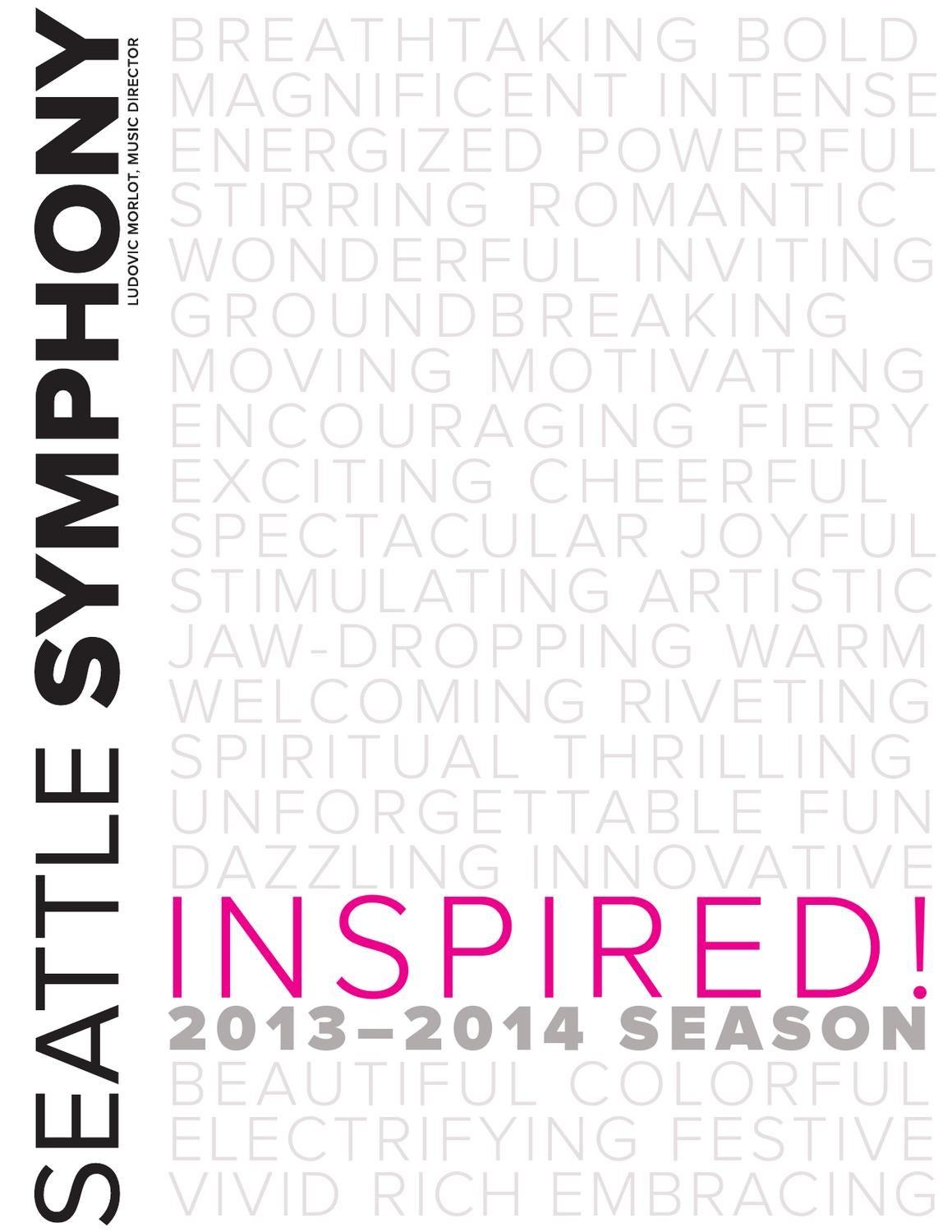 1314 Seattle Symphony Season brochure by Seattle Symphony
