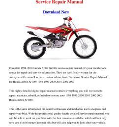 2002 1996 honda xr100r free manual on 2002 honda xr 650 2002 honda crf 150f  [ 1060 x 1500 Pixel ]