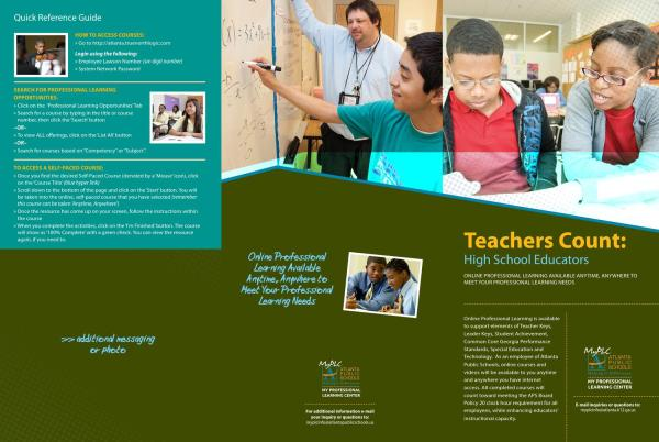 High School Professional Learning Brochure Charlotte
