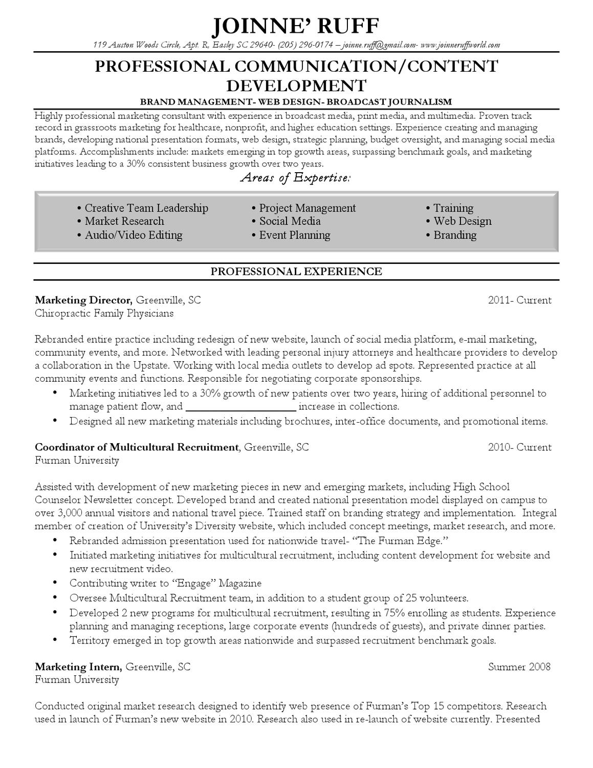 Broadcast Journalism Resume Examples Resume Broadcast Project Manager Sample Resume Resume Daily