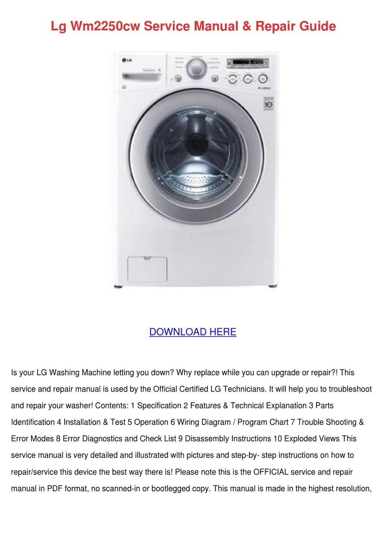 lg wm2250cw service manual repair guide by shanephifer
