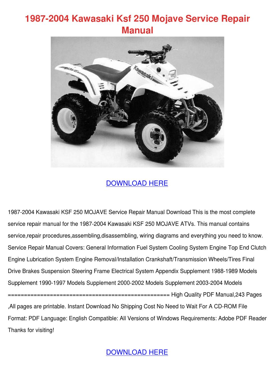 hight resolution of kawasaki mojave ksf wiring diagram kawasaki 110 atv wiring 1997 kawasaki mojave 250 wiring diagram 2001 kawasaki mojave 250 wiring diagram
