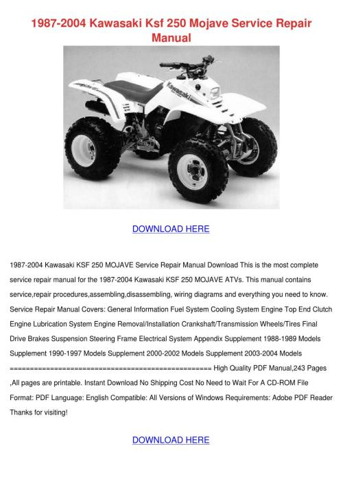 small resolution of kawasaki mojave ksf wiring diagram kawasaki 110 atv wiring 1997 kawasaki mojave 250 wiring diagram 2001 kawasaki mojave 250 wiring diagram