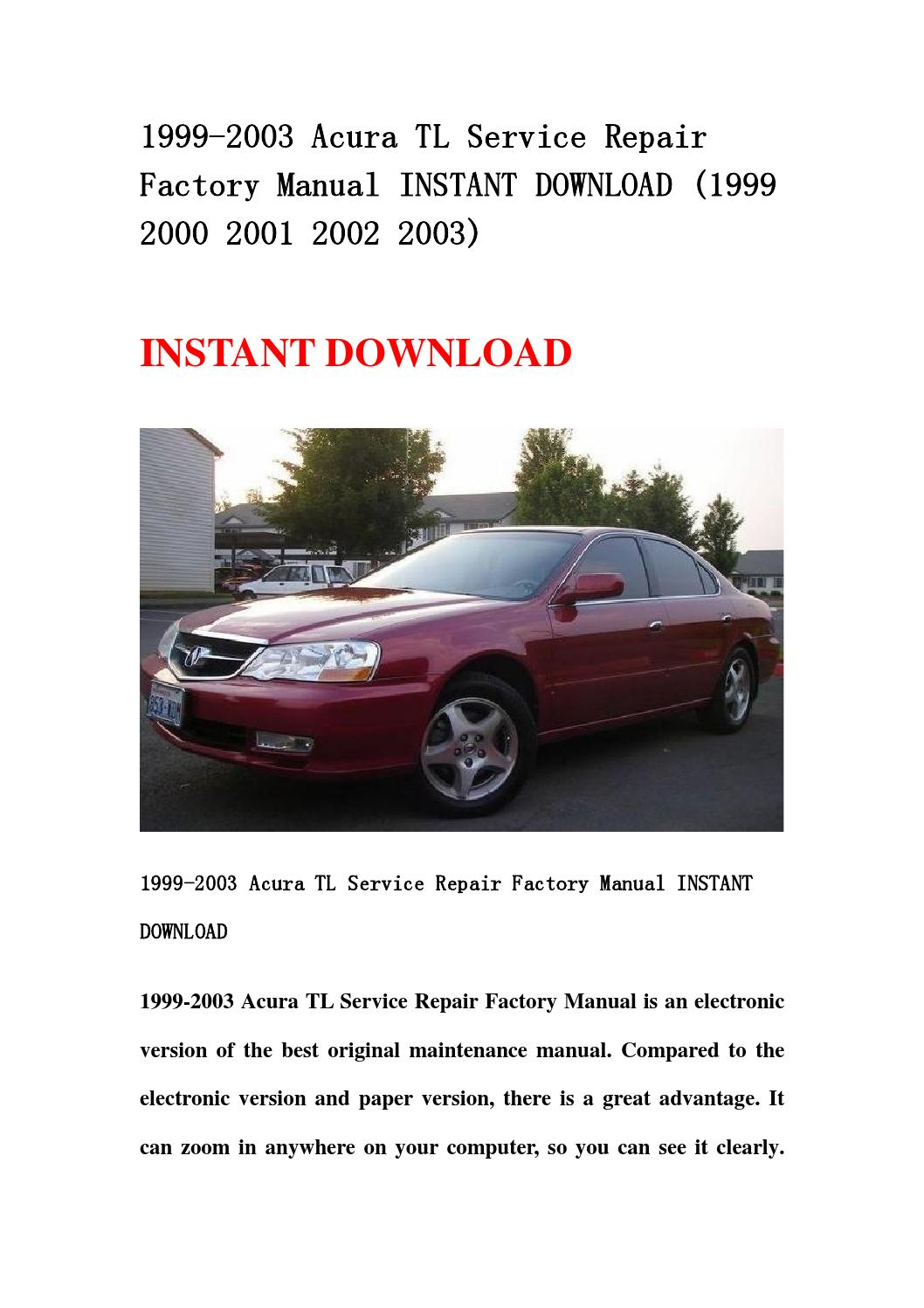 2000 acura tl repair manual