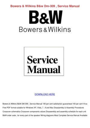 Bowers Wilkins Bw Dm 309 Service Manual by KoreyKerr  issuu