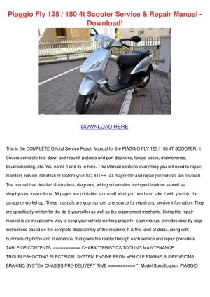 Piaggio Fly 125 150 4t Scooter Service Repair by ByronBecnel  issuu