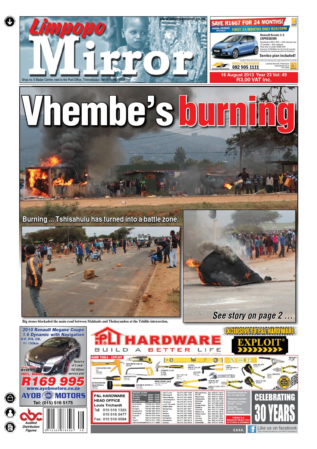 ISSUU  Limpopo Mirror 16 August 2013 by Zoutnet