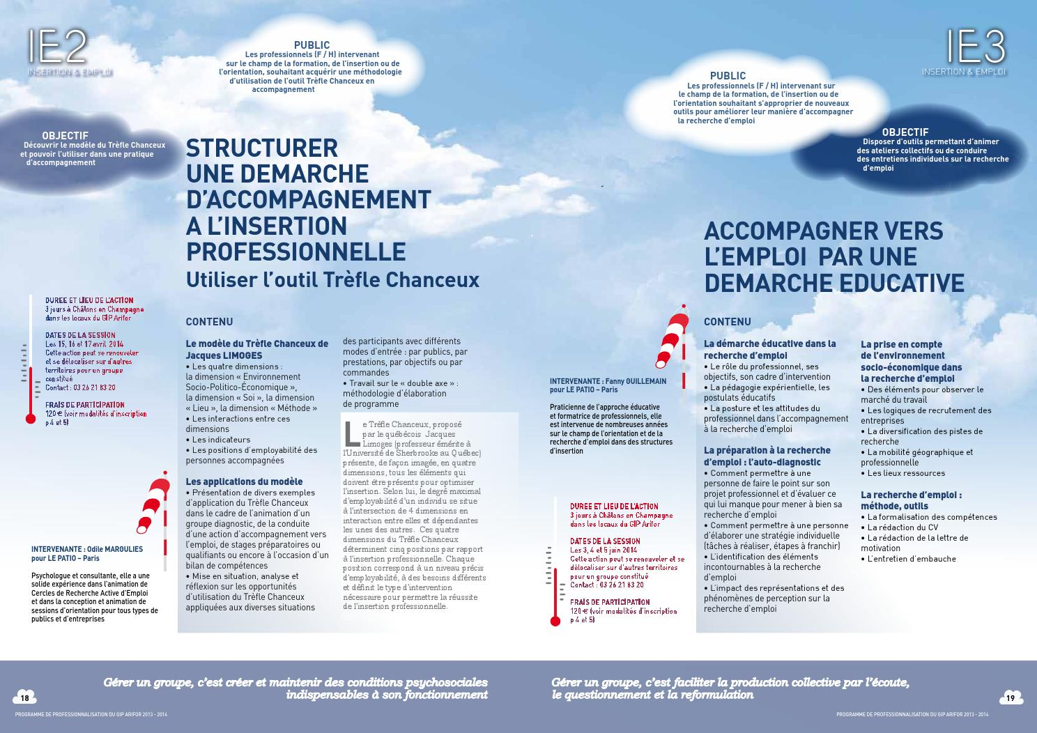 Programme de professionnalisation 20132014 by Arifor  issuu