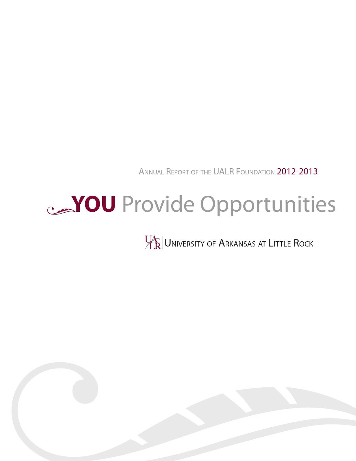 2012-2013 UALR Endowment Report by UALR Office of