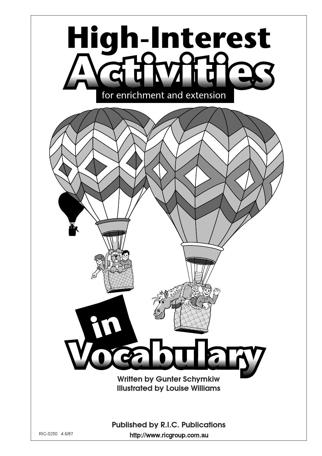 High-Interest Activities in Language and Vocabulary