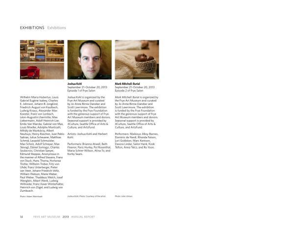 Frye Art Museum 2013 Annual Report