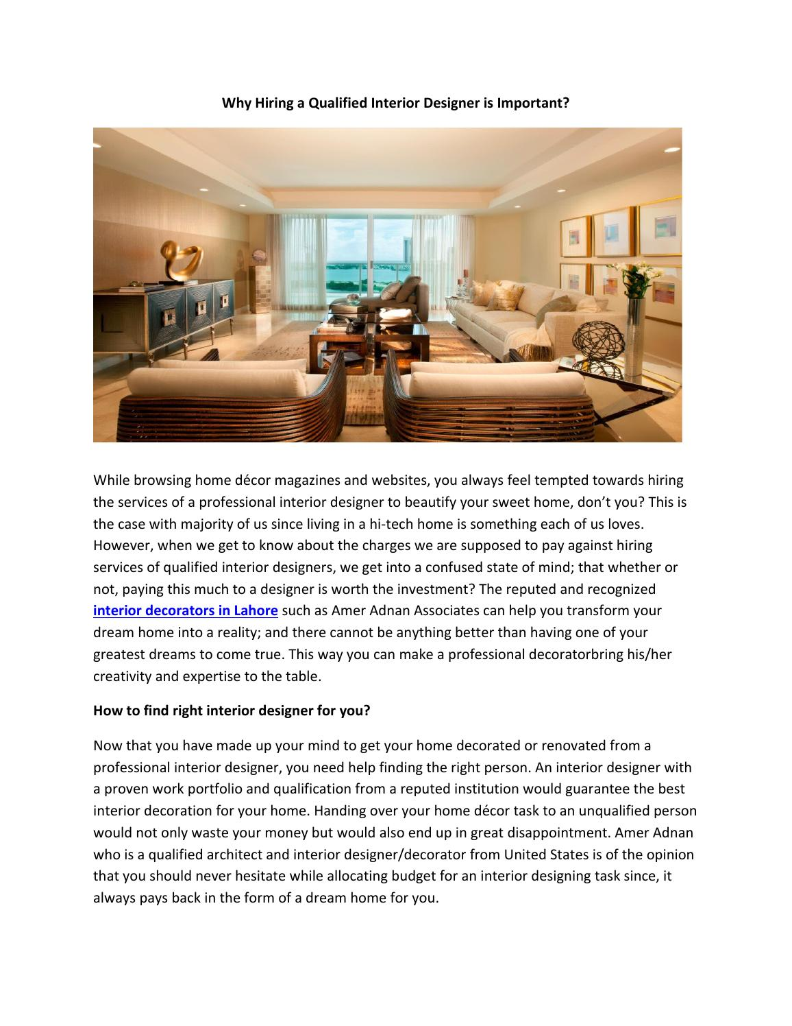 Why Interior Design Is Important College Paper Service