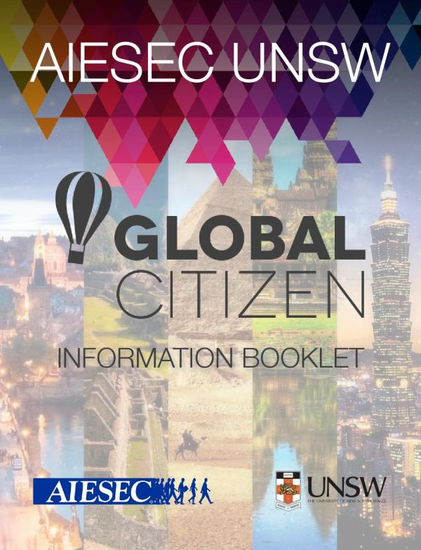 Aiesec Unsw - Global Citizen Information Booklet