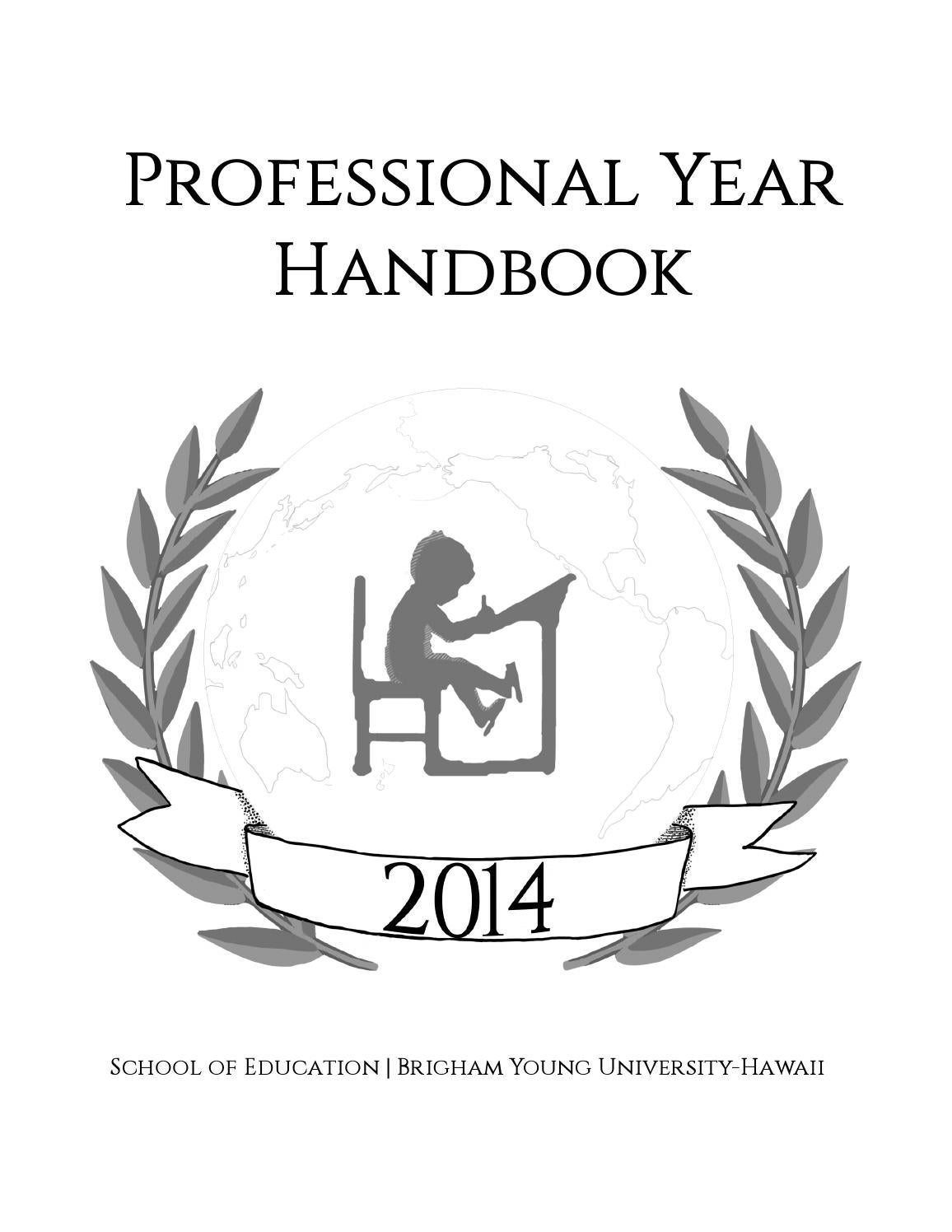 BYU-Hawaii School of Education Professional Year Handbook