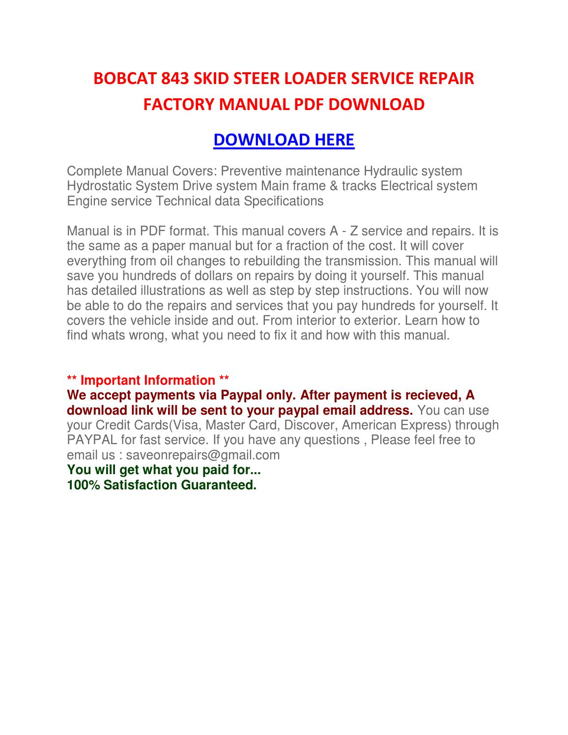 hight resolution of  fitting instructions operating instructions manuals loaders of we provide various workshop engine skid steer loader service repair shop manual