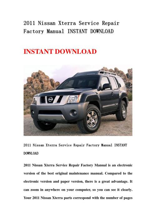 small resolution of 2002 nissan xterra owner s manual