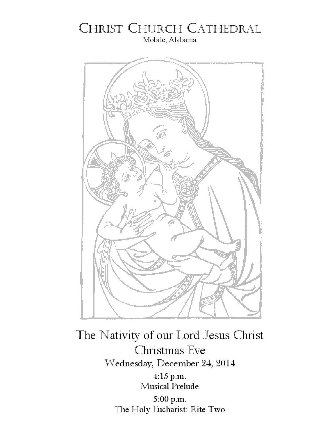 Christmas Eve Service Bulletin 2014 by Christ Church