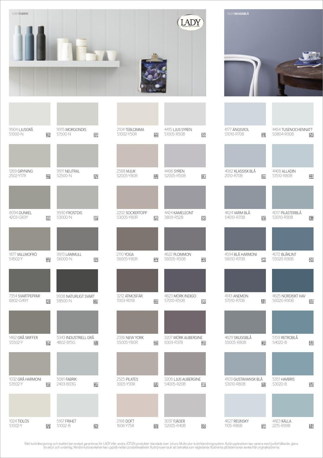 Color Jotun Paint Chart