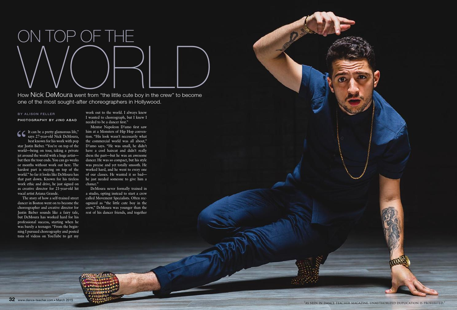 Dance Teacher Magazine Cover Story on Nick DeMoura by Monsters Dance  issuu