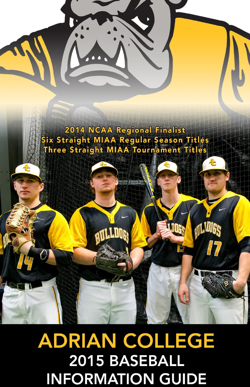 2015 Adrian College Baseball Guide by Adrian Sports Info