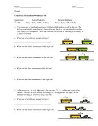 Inelastic collisions worksheet student by Emlyn Majoos
